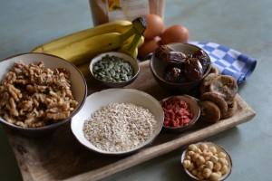 ingrediënten notenbrood